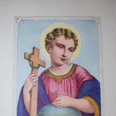 Arte: EL SALVADOR DEL MUNDO. LE SAUVEUR DU MONDE. JESUCRISTO NIÑO. JESÚS NIÑO.. Lote 30836752