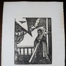 Arte: SANTA CATALINA TOMÁS. PALMA DE MALLORCA. BALEARES. XILOGRAFÍA ORIGINAL SIGLO XVII. Lote 30886062