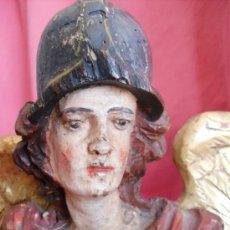 Arte: SAN MIGUEL TALLA DE MADERA SIGLO XVIII. Lote 30887196