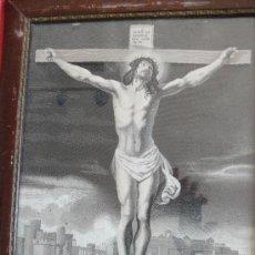 Arte: CRISTO TEJIDO EN SEDA SIGLO XIX. Lote 34656646