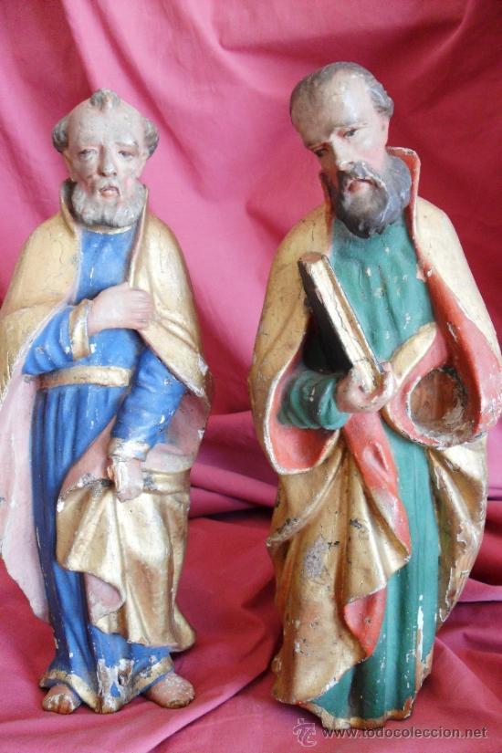 SAN PEDRO Y SAN PABLO SIGLO XVIII (Arte - Arte Religioso - Escultura)