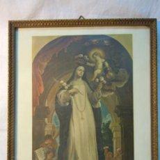 Arte: LITOGRAFIA SANTA ROSA DE LIMA DE CLAUDIO COELLO. AÑOS 50. Lote 30986148