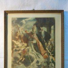 Arte: LITOGRAFIA. ELTRIUNFO DE SAN AGUSTIN DE CLAUDIO COELLO. AÑOS 50. Lote 30986442