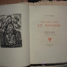 Arte: SONNETS SUR LE ROSAIRE GRABADOS DE A. OLLE PINELL. Lote 31036087