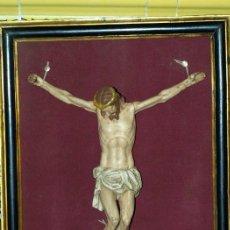 Arte: CRISTO (CURIOSAMENTE SIN CLAVOS) MADERA POLICROMADA. S XVIII.. Lote 31112052