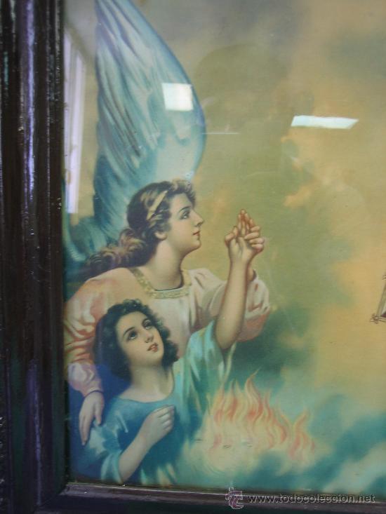Arte: Cuadro estampa religiosa antiguo de la Virgen. Medidas 47 x 87 cm - Foto 5 - 122534787
