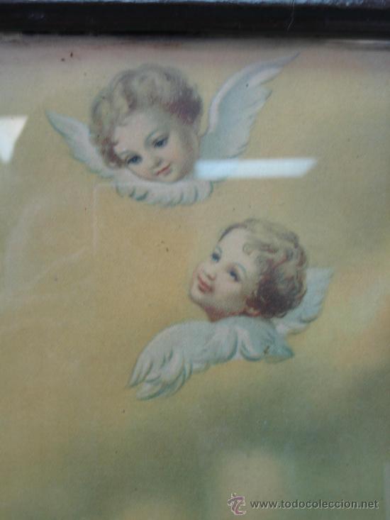 Arte: Cuadro estampa religiosa antiguo de la Virgen. Medidas 47 x 87 cm - Foto 8 - 122534787