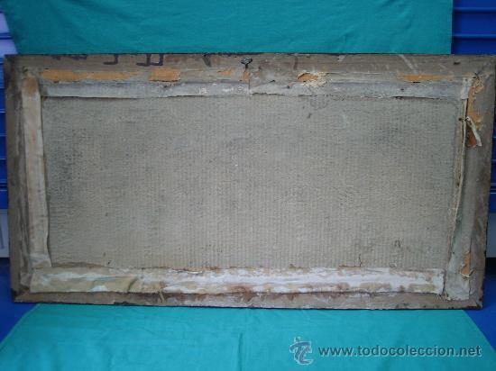 Arte: Cuadro estampa religiosa antiguo de la Virgen. Medidas 47 x 87 cm - Foto 9 - 122534787