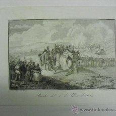 Arte: 1845 GUERRAS CARLISTAS REVISTA DE 1º DE ENERO DE 1834 POR PARTE DE LA REINA. Lote 31190725