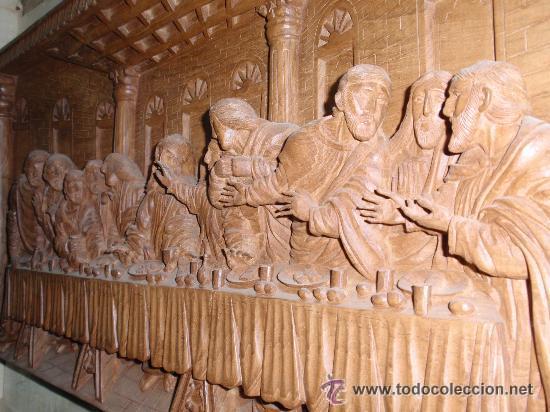 Arte: Ultima cena, tallada en madera, alto relieve. Medida 100x43x7 cm - Foto 4 - 31219936