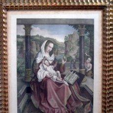 Arte: LA VIRGEN CON EL NIÑO DIOS Y SAN JUAN. Lote 31367330