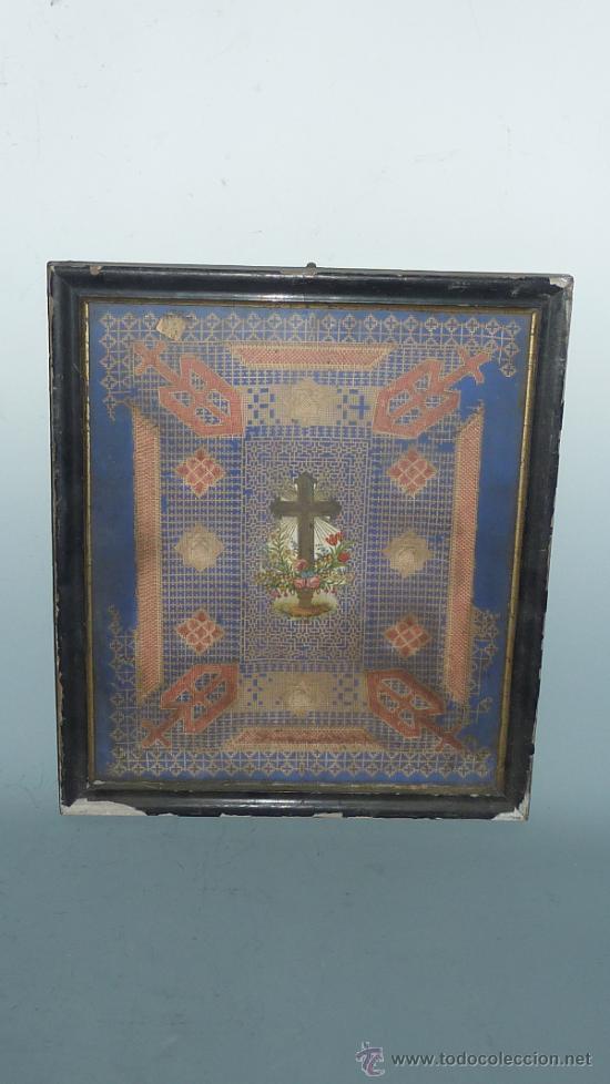 ANTIGUA COMPOSICION RELIGIOSA DE S.XIX. (Arte - Arte Religioso - Pintura Religiosa - Otros)