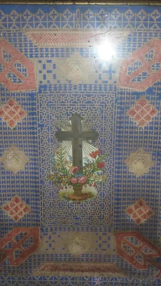 Arte: Antigua composicion religiosa de s.XIX. - Foto 2 - 31405830