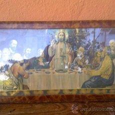 Arte: ANTIGUO CUADRO CON LA ULTIMA CENA DE JESUS.. Lote 31456624