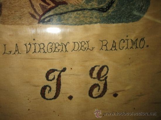 Arte: ANTIGUA VIRGEN DEL RACIMO BORDADA - Foto 5 - 31554987
