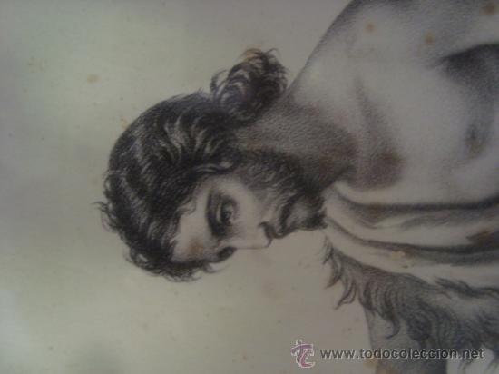 Arte: magnifico grabado del bautismo de jesus, original epoca, , en marco dorado 40 x 31 cm - Foto 15 - 31574805