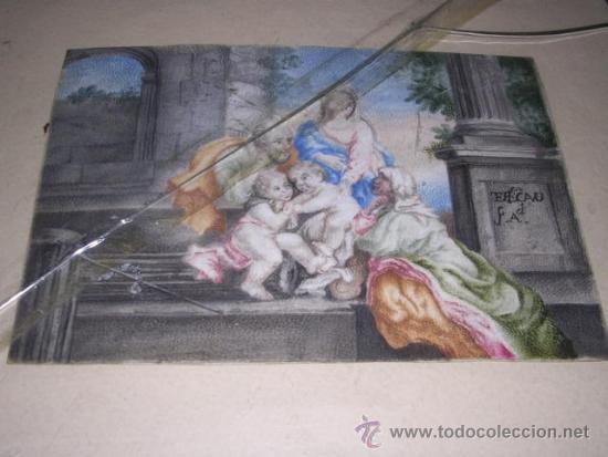 Arte: PINTURA RELIGIOSA S. XVII -XVIII PINTADO SOBRE PERGAMINO MARCO S. XIX. PERGAMINO 16,5X11,5 CM. - Foto 3 - 31617130