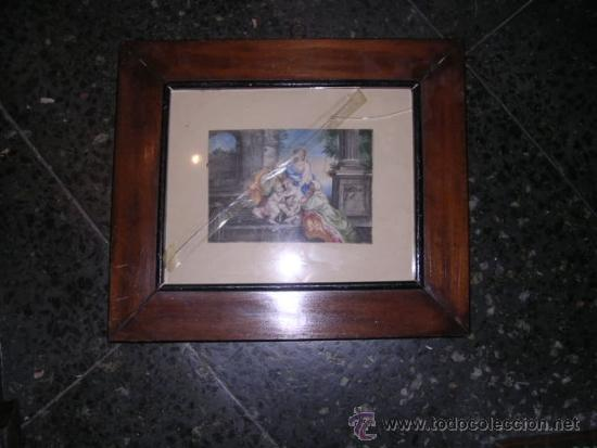 Arte: PINTURA RELIGIOSA S. XVII -XVIII PINTADO SOBRE PERGAMINO MARCO S. XIX. PERGAMINO 16,5X11,5 CM. - Foto 4 - 31617130