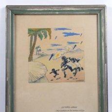 Arte: VALENTÍ CASTANYS (1898-1965) ACUARELA Y TINTA, MARCO: 27X35 CM.. Lote 31706283
