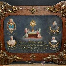 Arte: PRECIOSA OBRA MODERNISTA DE TEMA RELIGIOSO. OLEO SOBRE TABLA DEL AÑO 1915. Lote 31776705