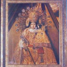 Arte: CUADRO AL OLEO DE LA VIRGEN DE LOS DESAMPARADOS PATRONA DE VALENCIA. Lote 35677617