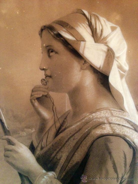SOBERBIO RETRATO DE UNA JOVEN ORANDO, FIRMADO Y FECHADO N. JORGENSENL 1859, 60 X 48 CM. (Arte - Arte Religioso - Pintura Religiosa - Otros)