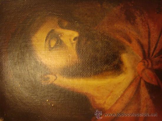 Arte: ANTIGUO Y MAGNIFICO pintura al OLEO CRISTO FIRMADO 1934 FEDERICO, 32 X 24 cm - Foto 5 - 32120879
