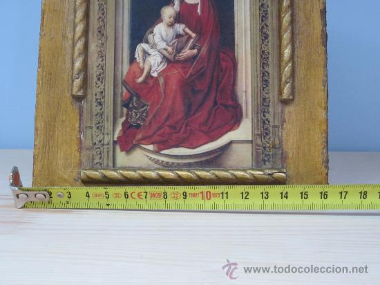 Arte: cuadro virgen con niño lamina pegada en madera - Foto 4 - 32127838