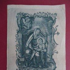 Arte: GRABADO SOBRE PAPEL 12X9CM. COLOR AZUL 'SANTA ANNA' SIGLO XVII. Lote 32155417