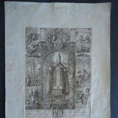 Arte: MADRID.INDULGENCIA GRABADO 42X30CM. DIEGO DE OBREGON. SIGLO XVII.IGLESIA DE LOS DESAMPARADOS.. Lote 32173669