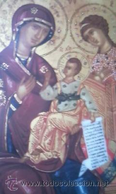 PRECIOSO ICONO VIRGEN CON EL NIÑO. EN PORCELANA.VILLEROY & BOCH. EDICION LIMITADA Nº 1675/3000 (Arte - Arte Religioso - Iconos)