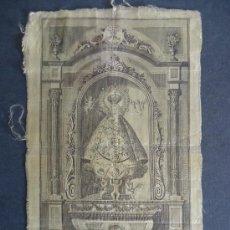 Arte: CACERES.NAVARRA.SIGLO XVIII.GRABADO SOBRE SEDA'Nª.Sª. DE LA MONTAÑA' BERNARDO ALBISTUR 1794.29X18,5C. Lote 32353873