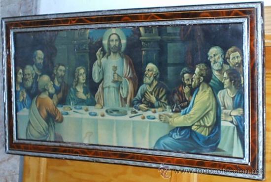 CUADRO DE LA SANTA CENA. CUADRO DE JESÚS Y SUS APOSTOLES. ULTIMA CENA. CENA DE PASCUA. (Arte - Arte Religioso - Pintura Religiosa - Otros)