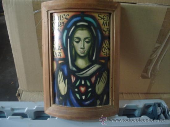 CURIOSO CUADRO VIRGEN OVALADO (Arte - Arte Religioso - Pintura Religiosa - Otros)