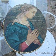 Arte: ICONO DE LA VIRGEN SOBRE TABLA, 39X29. Lote 32525990