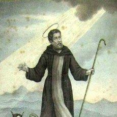 Arte: 1750C BONITO GRABADO ILUMINADO DE SAN DANIEL GUIA DE VIAJEROS Y NAVEGANTES MARCO. Lote 32570758
