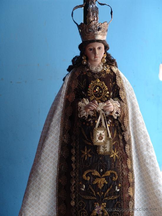 TALLA CAP I POTA VIRGEN DEL CARMEN.SIGLO XVIII. (Arte - Arte Religioso - Escultura)