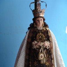 Arte: TALLA CAP I POTA VIRGEN DEL CARMEN.SIGLO XVIII.. Lote 33044032