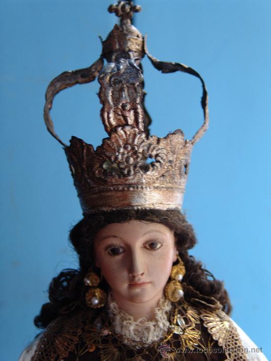 Arte: TALLA CAP I POTA VIRGEN DEL CARMEN.SIGLO XVIII. - Foto 4 - 33044032