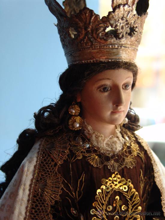 Arte: TALLA CAP I POTA VIRGEN DEL CARMEN.SIGLO XVIII. - Foto 5 - 33044032