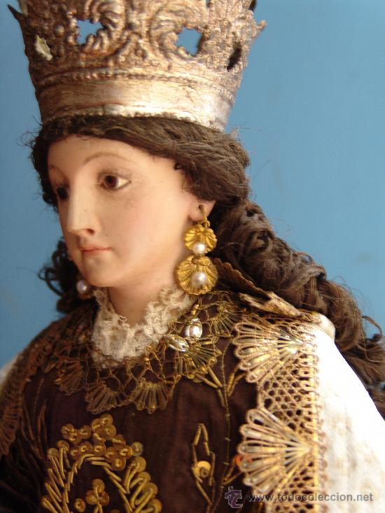 Arte: TALLA CAP I POTA VIRGEN DEL CARMEN.SIGLO XVIII. - Foto 6 - 33044032
