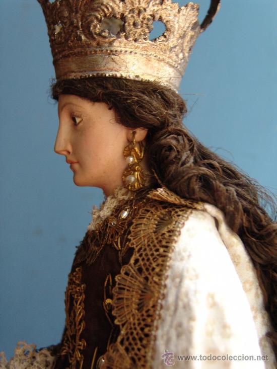 Arte: TALLA CAP I POTA VIRGEN DEL CARMEN.SIGLO XVIII. - Foto 8 - 33044032