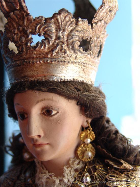 Arte: TALLA CAP I POTA VIRGEN DEL CARMEN.SIGLO XVIII. - Foto 9 - 33044032