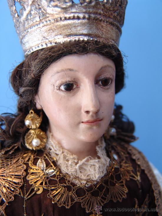 Arte: TALLA CAP I POTA VIRGEN DEL CARMEN.SIGLO XVIII. - Foto 11 - 33044032