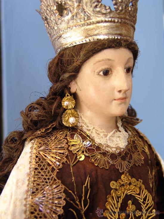 Arte: TALLA CAP I POTA VIRGEN DEL CARMEN.SIGLO XVIII. - Foto 12 - 33044032