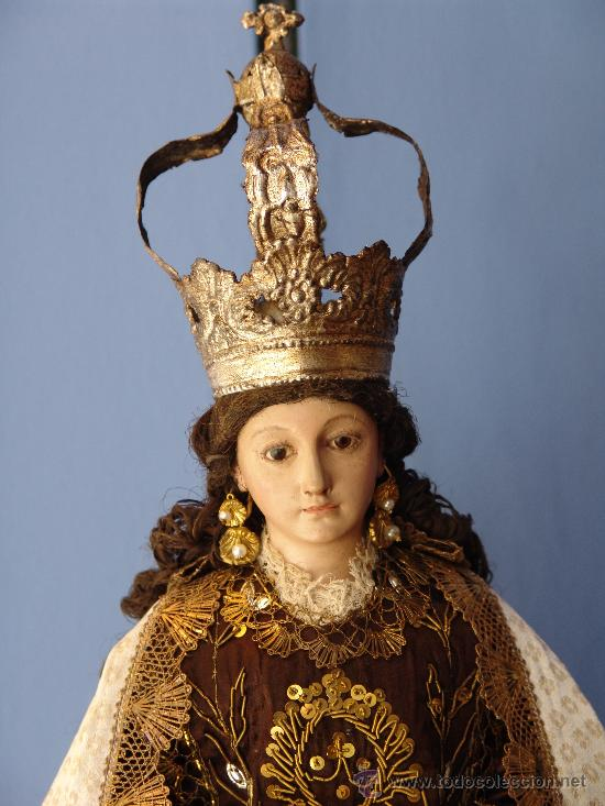 Arte: TALLA CAP I POTA VIRGEN DEL CARMEN.SIGLO XVIII. - Foto 13 - 33044032