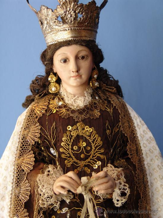 Arte: TALLA CAP I POTA VIRGEN DEL CARMEN.SIGLO XVIII. - Foto 14 - 33044032