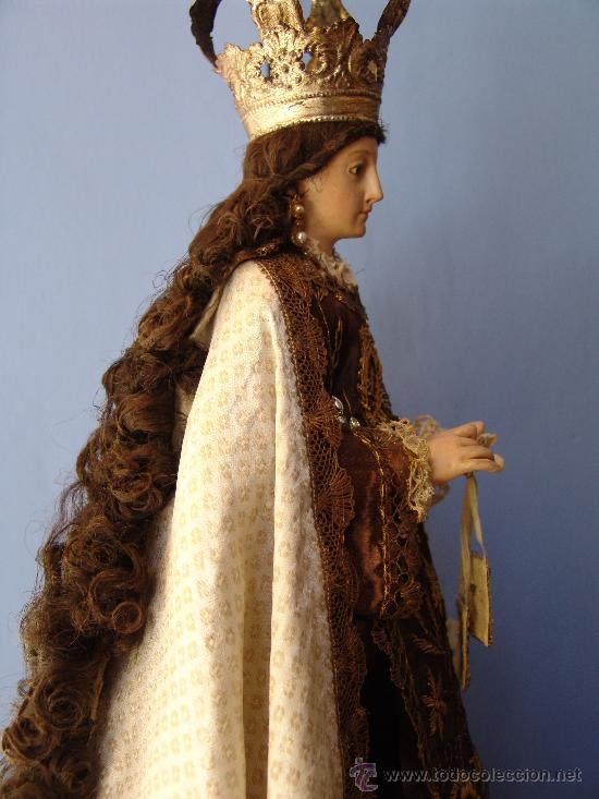 Arte: TALLA CAP I POTA VIRGEN DEL CARMEN.SIGLO XVIII. - Foto 15 - 33044032