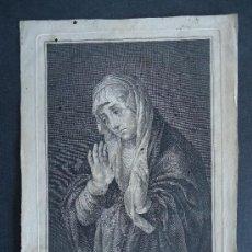Arte: 'MATER DOLOROSA' PINTADO POR TIZIANO. GRABADO POR J.A. SALVADOR CARMONA. SIGLO XVIII ¡¡MUY RARO!!. Lote 33079159