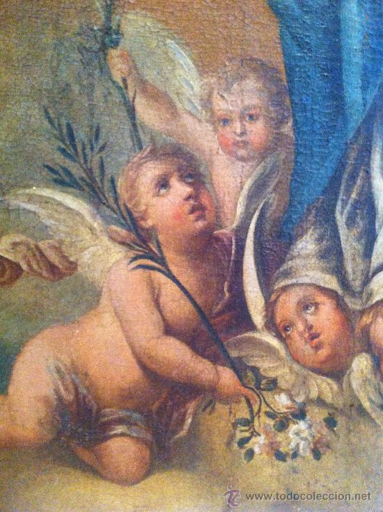 Arte: Óleo sobre lienzo - Virgen Inmaculada Siglo XVIII - Foto 4 - 33081554